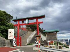 8:25 元乃隅神社到着。