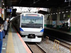 例によって旅の始まりは柏駅  9時53分発、常磐線上野東京ラインに乗ります。