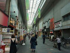●大手筋商店街@京阪伏見桃山駅界隈  ランチ後商店街を歩きました。 この商店街は、昔から人通りが多いです。