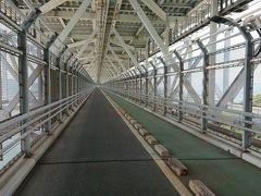11時15分 今の所良いペースで進んでおります。 因島大橋は高速道路の下の専用道路を抜けていきます。