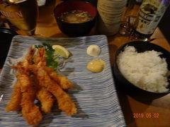 エビフライはもちろん、ご飯が 日本のお米。 とっても美味しい日本食でした。  さあ、マイバス社へ向かいましょう!