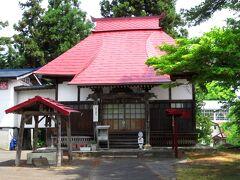 時間が少ないですが、歴史資料館から5分ほどのところにある養泉寺も訪れました。 奥の細道の中で芭蕉が最も長く滞在(7泊)したといわれ、現在では最上33観音めぐりの札所の1つにもなっています。