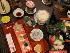1泊目は、西伊豆 堂ヶ島温泉のニュー銀水 晩御飯です!