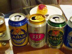 チェックアウトは21時だったので、シャワーを浴びてすっきりして、荷造りも済ませてからベトナムビールでホーチミン最後の乾杯です。