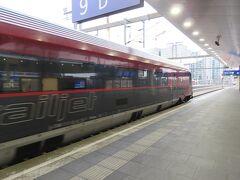 ウィーンからプラハ行きの朝の列車。内装は似ていた。