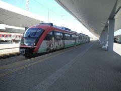 8時45分発定刻、ソフィアからブルガリア東部方面行き電車はコプリフシティツァに向かいます。電車は新しめなのにイタズラ書きが多くて残念です。運賃は1人5.2レフでした。