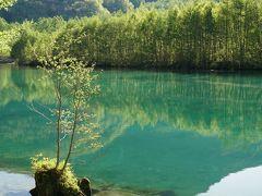 夕食までまだあるので大正池で映り込みを少し撮影。  焼岳はまあまあきれいに映ってます。