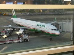 福岡から高雄行き20時20分発のエバー航空BR119便、機材はエアバスA321。