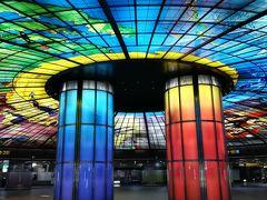 KRT 美麗島駅。世界で2番目に美しい地下鉄駅だとか。確かに美しい。