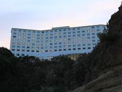 海から見たホテル「ホテル&リゾーツ 和歌山 みなべ」