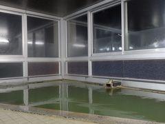 その後、お宿からサービス券を頂いたんで、車で近くの「宗谷パレス」さんの温泉へ(^_^) この日は泊まり客もほとんどおらず、節約営業されてたのか、入口の電気も点いてなくてちょい不安になったけど(笑)無事入浴(*^。^*) トロみのあるお湯が、ノシャップ岬で冷えた身体をよく温めてくれたよん(^o^) おやすみなさい(-_-)zzz