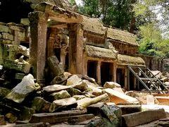 タプローム  遺跡がガジュマルの根やスポアン(榕樹)に覆われる姿はまさに神秘的。メンテナンスは行われていますが、発見当時のまま残されている自然の芸術です。  出典:ベルトラ