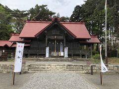 松前公園の中に松前神社がありましたのでお参り。松前藩の先祖に当たる武田信広公をお祀りしているそうです。