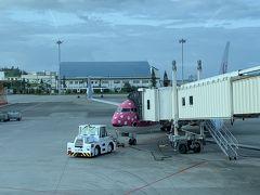 翌朝 ゆいレールの始発で那覇空港へ ここからは同じフライト、8名中4名がエメラルド会員ということで、JALファーストラウンジで軽くお食事してから乗り込みます