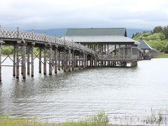 ここからは橋と岩木山が写るスポットで看板も出ています。
