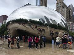 そして、お豆の形をしたシカゴの顔「ビーン」と呼ばれるオブジェを求めてミレニアムパークへ。