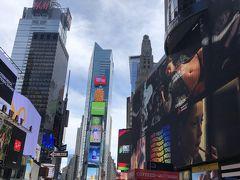 徒歩でタイムズスクエアへ NYの道路はきれいな碁盤の目なので わかりやすい~