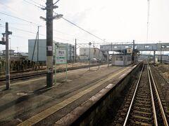 神宮寺駅を発車しました。