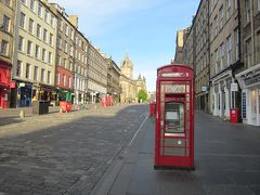 ロイヤルマイル 赤い電話ボックスです。魔法省に行けるのでしょうか・・・ (ハリポタのネタです)