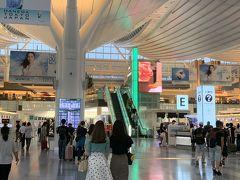 仕事終了後、羽田空港国際線へ ウェブチェックイン済ませていたので、そのまま出国