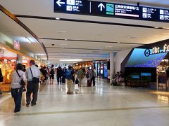 国際線ターミナルの雰囲気をちょっと味わった後、連絡バスに乗って国内線ターミナルへ。 ターミナル2階のショッピングエリアは、モールのよう。