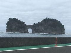 水族館が円月島が見える海岸近くにあるので、合わせて観光することができました。