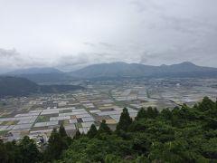 【城山展望所】 高台のため風は強いです 田んぼに水がはってるので 景色にメリハリがありパズルのようです