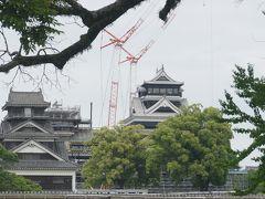 【熊本城】 城彩苑から二の丸まで無料シャトルバスが出てる ので往復の利用です 復活を願います