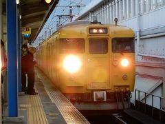 三原で3分乗り換えで和気行きに  こっちは115系電車