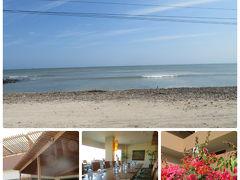 バスで約1時間ほど、海岸へ 素敵なリゾートエリア(今は初秋、オフシーズン)