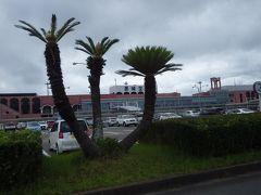長崎は梅雨であいにくの天気ですが、 雨は降っていませんでした。 レンタカーを借りに送迎車の中からパシャリ。