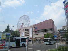 鹿児島中央駅に戻ります。 シンボルの観覧車アミュランが目立ちます。