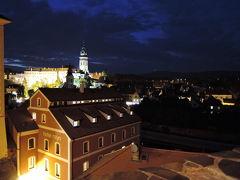 夜景を見にチェスキークロムロフへ。