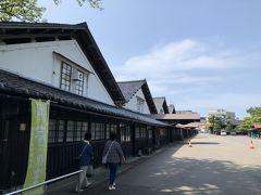 山居倉庫の建物並び