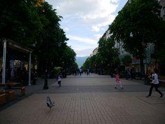 裁判所の前がトラムの出発地点になっていて、その先は歩行者天国のビトシャ通り。 広い道で歩きやすい。