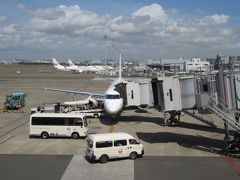 羽田へは約1時間のフライトです。 約5分遅れのディレイ。そのまま会社へ出社しました。