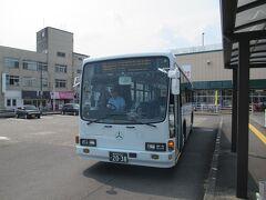 やって来た「特急」は鹿児島交通の路線バス仕様でした。
