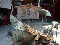 拝殿横にある霊泉鶴の井戸の水 しょっぱいです 塩分がかなり含まれて居ます