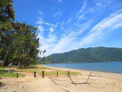 帰路も途中で琵琶湖のマキノというエリアによってみた。せっかくこの辺りまで来たこともあって。