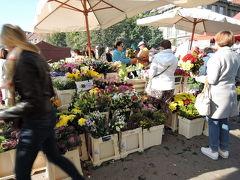 9月30日(土) 毎週土曜日開かれるファーマーズマーケットへ トラムVitězněnámかメトロDejvickáで降ります。 今日はプラハ観光最終日。明日は日本への飛行機に乗るので残念ながら野菜は買えません。 買物はしなくても、市場を見るだけでも楽しいです。