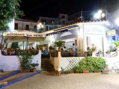 時刻は午後9時半を回り、夕食へ。 行き先は「リストランテ・サン ピエトロ」です。
