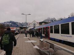 フュッセン駅  ここから路線バスに乗り換え 約10分 片道 2.3ユーロ