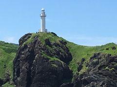 御神崎灯台が見えます。