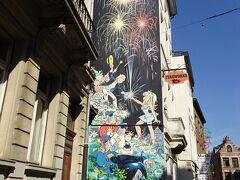 有名どころの壁画巡りをしてみました、時間があったので。 ベルギーは日本に劣らないマンガ大国。 ブリュッセルの街にはあちこち壁にマンガが描かれていて楽しい。 平らな壁とあらば・・描きたくなるんでしょうか・・ BDバンドデジネとは・・フランス語圏のマンガの事、続きマンガ これは・・オリヴィエ・ラモー・・Dany作