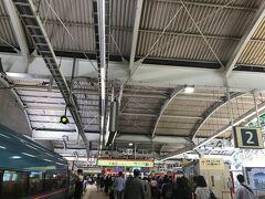 JRと小田急線で、トコトコやってきました、久々の箱根湯本駅。