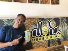 """水分補給 ハレイワでレモネードが美味しいと評判のお店""""Wowwow Hawaiian""""で一休み。"""