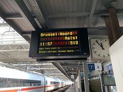 1時間半ほどでタリスはブリュッセル南駅に到着。 中央駅へ向かう在来線のホームはGoogle Mapですぐにわかりました。 この間は頻繁に走っているみたいです。