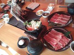 最後は、米沢で米沢牛ランチ。  DINNIGべこや さんで牛鍋。