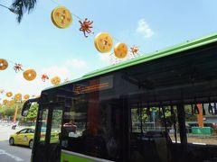 やってきたのは今回の旅行3度目のチャイナタウン。 あ、バスの方向幕、一瞬「ハッピーニューイヤー」の文字とパイナップルの絵模様が。シンガポール、おちゃめなとこもあるのね。 そういえば東京でも山手線は後ろ側の方向幕は季節の絵柄が表示されるようになってますね。