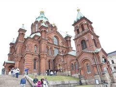 ウスペンスキー寺院に到着。 ロシア正教会の建物。 入場無料。